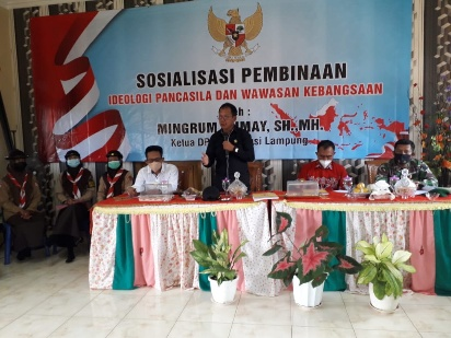 Mingrum Gumay Berikan Pembinaan Ideologi Pancasila dan Wawasan Kebangsaan