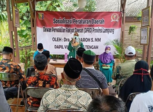 Sosialisasikan Perda di Kotagajah, Jauharoh Haddad Juga Sampaikan Pentingnya Vaksin Bagi Masyarakat
