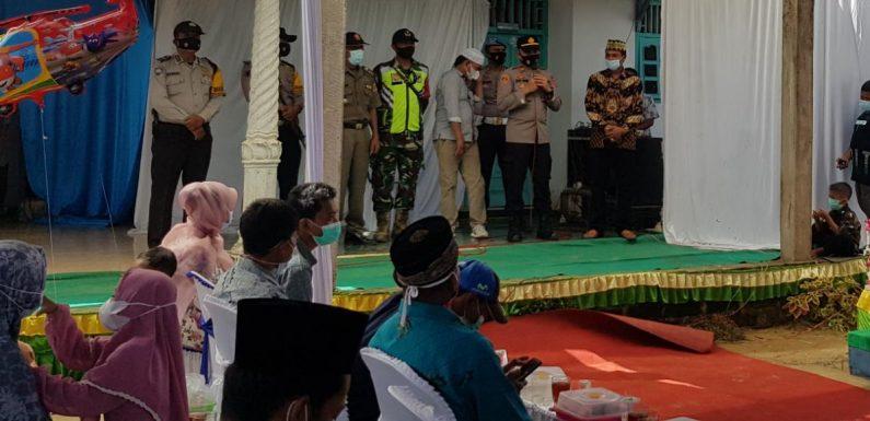 Datangi Pesta Pernikahan, Kapolsek Rumbia Imbau Taat Prokes