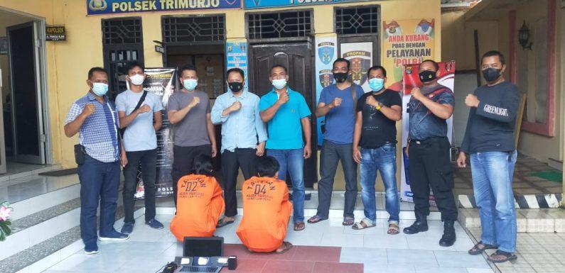 Di-back Up Polda Lampung, Tekab 308 Polsek Trimurjo Bekuk Dua  Pelaku Curat