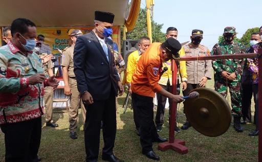 Bupati Lamteng Launching Bunga Kampung di Trimurjo
