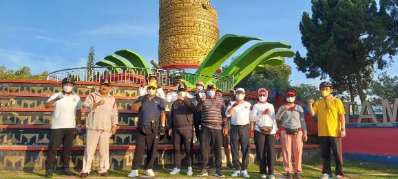 Gowes Bersama Gubernur Lampung dan Bupati Lamteng, MKKS SMA dan SMK Optimis Pendidikan Maju dan Berjaya