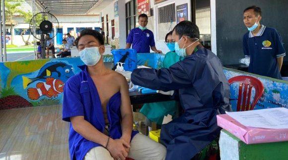 Vaksinasi Tahap Pertama Sasar 250 WBP Rutan Kelas IIB Menggala