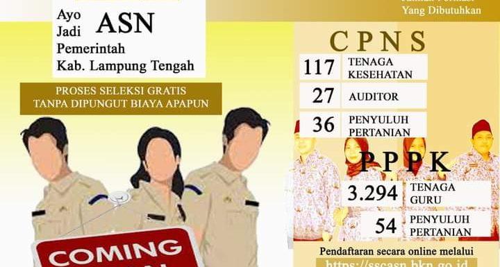 Pendaftaran Pegawai di Lingkungan Pemerintah Kabupaten Lampung Tengah Diperpanjang, Ini Jadwalnya