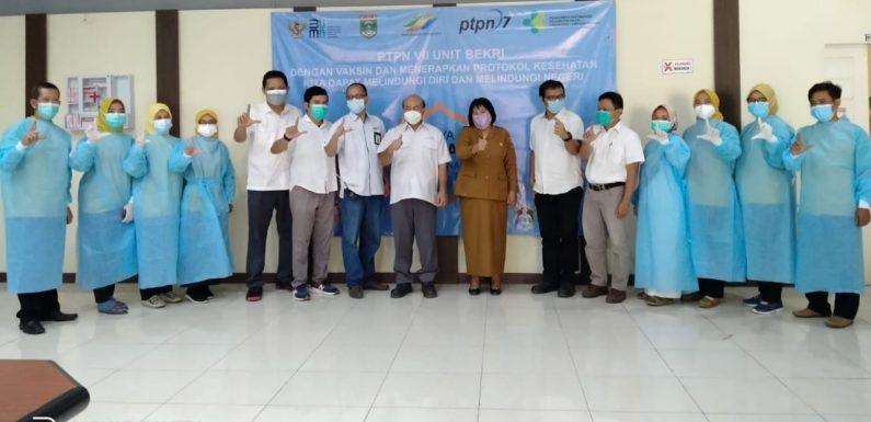 PTPN VII Unit Bekri Vaksinasi 357 Karyawan