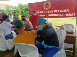 Binda Lampung Kembali Lakukan Vaksinasi di Lamteng untuk Pelajar